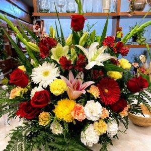 Centro flor variada Sif