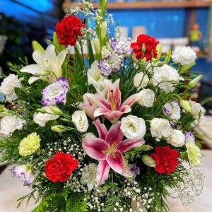 Centro flor funeral Juno