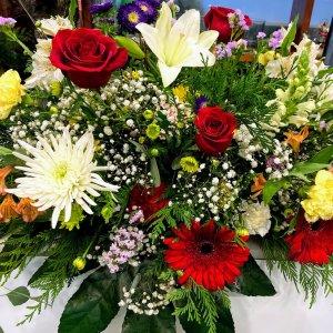 Centro flor variada Homero