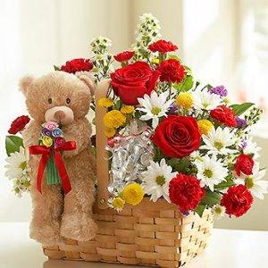 Cesta de flor fresca variada Leto