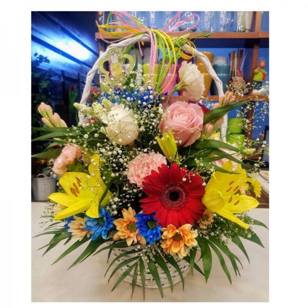 Cesta de flor variada Rea