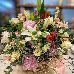 Cesta de flor variada Yuriko