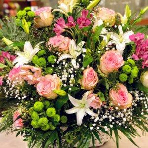 Cesta de flor variada Hindú