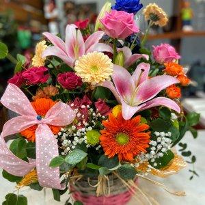 Cesta flor fresca Yeruti