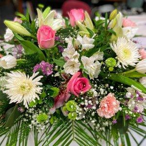 Corona flor fresca funeral Oceanide