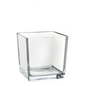 Macetero cristal cuadrado