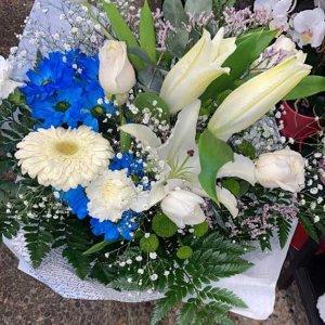 Ramo flor variada fresca Azul