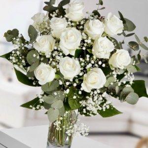 Ramo 12 rosas frescas