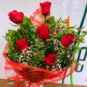 Ramo 6 rosas rojas Rāma